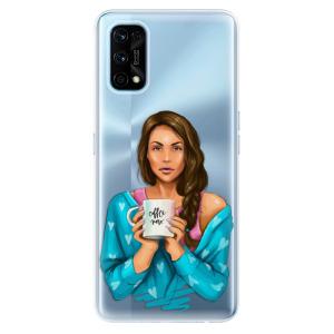 Odolné silikonové pouzdro iSaprio - Coffe Now - Brunette na mobil Realme 7 Pro