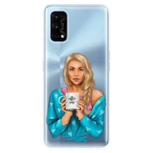 Odolné silikonové pouzdro iSaprio - Coffe Now - Blond na mobil Realme 7 Pro