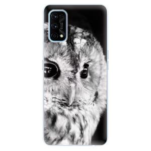 Odolné silikonové pouzdro iSaprio - BW Owl na mobil Realme 7 Pro