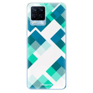 Odolné silikonové pouzdro iSaprio - Abstract Squares 11 na mobil Realme 8 / Realme 8 Pro