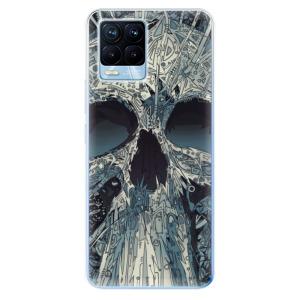 Odolné silikonové pouzdro iSaprio - Abstract Skull na mobil Realme 8 / Realme 8 Pro