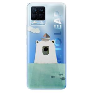 Odolné silikonové pouzdro iSaprio - Bear With Boat na mobil Realme 8 / Realme 8 Pro