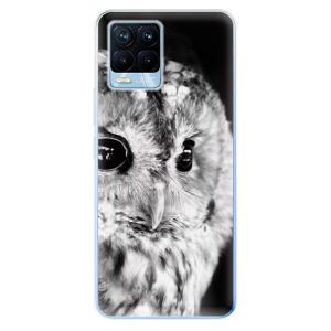 Odolné silikonové pouzdro iSaprio - BW Owl na mobil Realme 8 / Realme 8 Pro