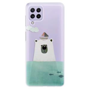 Odolné silikonové pouzdro iSaprio - Bear With Boat na mobil Samsung Galaxy A22 4G