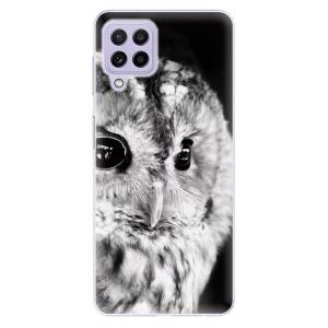 Odolné silikonové pouzdro iSaprio - BW Owl na mobil Samsung Galaxy A22 4G