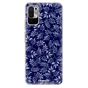 Odolné silikonové pouzdro iSaprio - Blue Leaves 05 na mobil Xiaomi Redmi Note 10 5G / Xiaomi Poco M3 Pro 5G