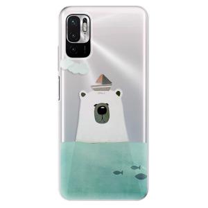Odolné silikonové pouzdro iSaprio - Bear With Boat na mobil Xiaomi Redmi Note 10 5G / Xiaomi Poco M3 Pro 5G