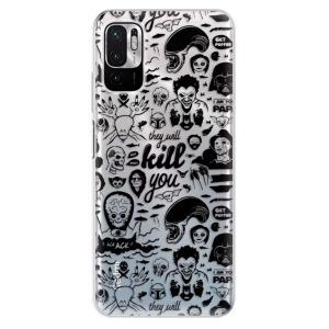 Odolné silikonové pouzdro iSaprio - Comics 01 - black na mobil Xiaomi Redmi Note 10 5G / Xiaomi Poco M3 Pro 5G