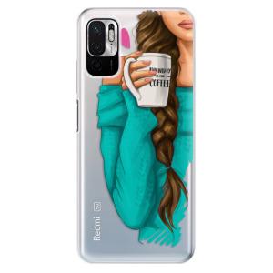 Odolné silikonové pouzdro iSaprio - My Coffe and Brunette Girl na mobil Xiaomi Redmi Note 10 5G / Xiaomi Poco M3 Pro 5G