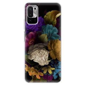 Odolné silikonové pouzdro iSaprio - Dark Flowers na mobil Xiaomi Redmi Note 10 5G / Xiaomi Poco M3 Pro 5G