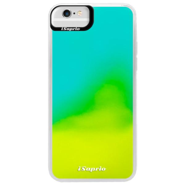 Pouzdro iSaprio s vlastním potiskem na mobil Apple iPhone 6 Plus/6S Plus (neonové pouzdro Blue)