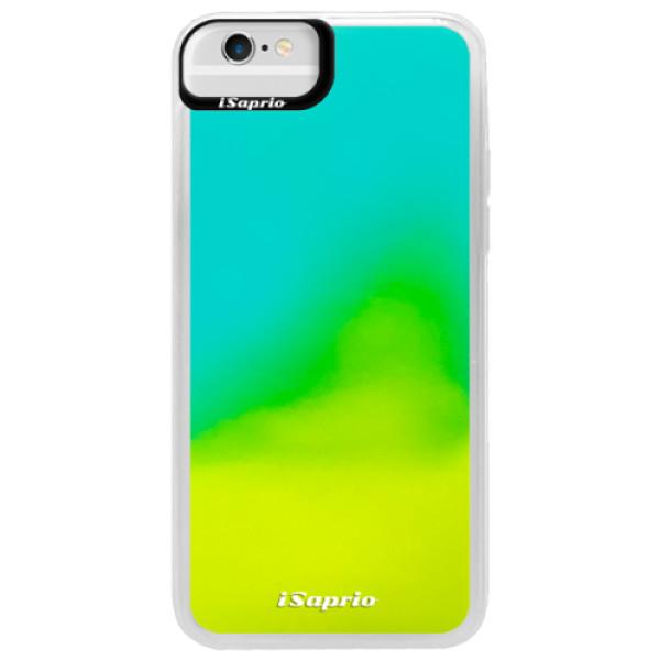 Pouzdro iSaprio s vlastním potiskem na mobil Apple iPhone 6/6S (neonové pouzdro Blue)