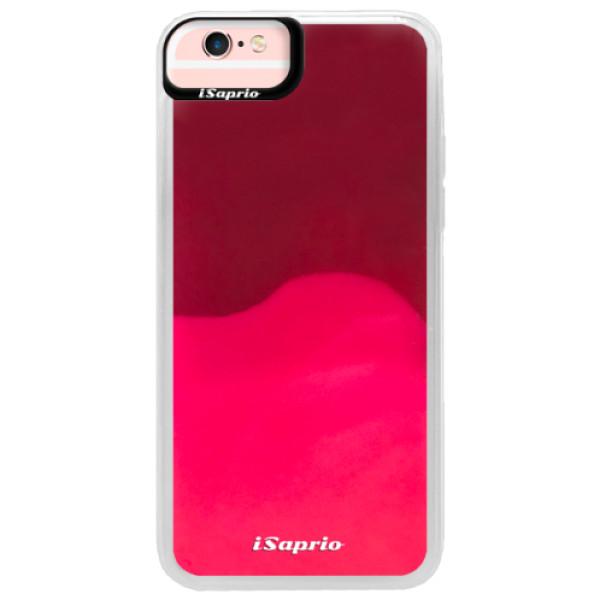 Pouzdro iSaprio s vlastním potiskem na mobil Apple iPhone 6/6S (neonové pouzdro Pink)