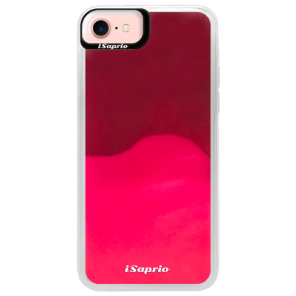 Pouzdro iSaprio s vlastním potiskem na mobil Apple iPhone 7 (neonové pouzdro Pink)
