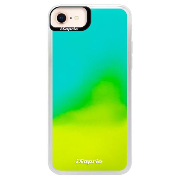 Pouzdro iSaprio s vlastním potiskem na mobil Apple iPhone 8 (neonové pouzdro Blue)