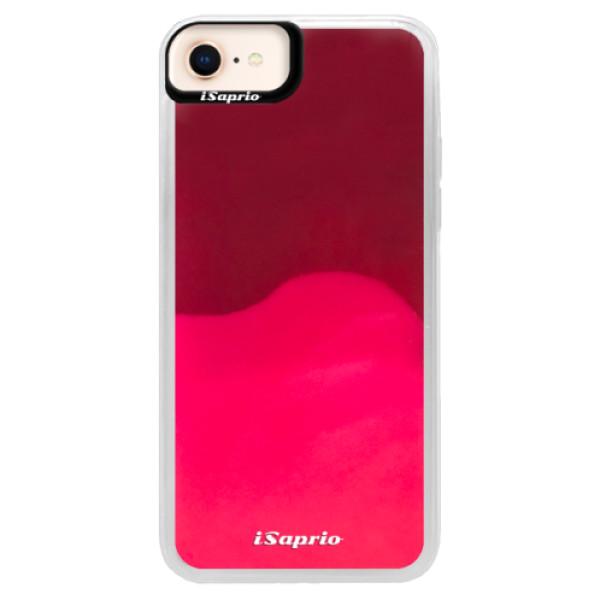 Pouzdro iSaprio s vlastním potiskem na mobil Apple iPhone 8 (neonové pouzdro Pink)