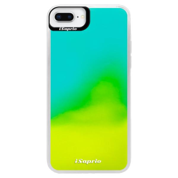Pouzdro iSaprio s vlastním potiskem na mobil Apple iPhone 8 Plus (neonové pouzdro Blue)