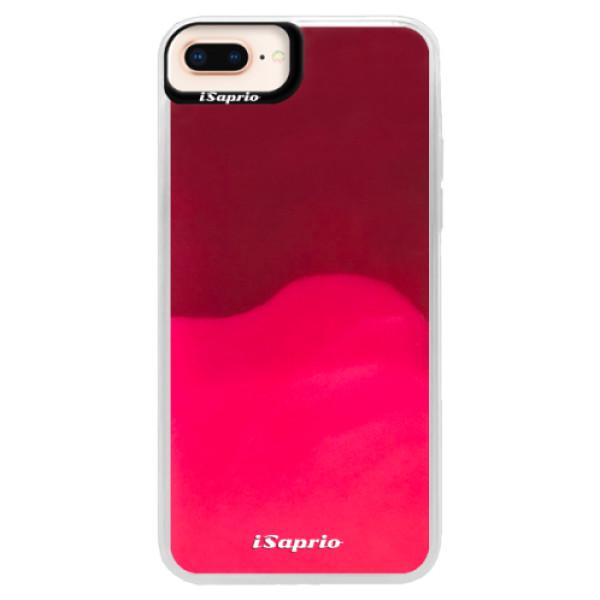 Pouzdro iSaprio s vlastním potiskem na mobil Apple iPhone 8 Plus (neonové pouzdro Pink)