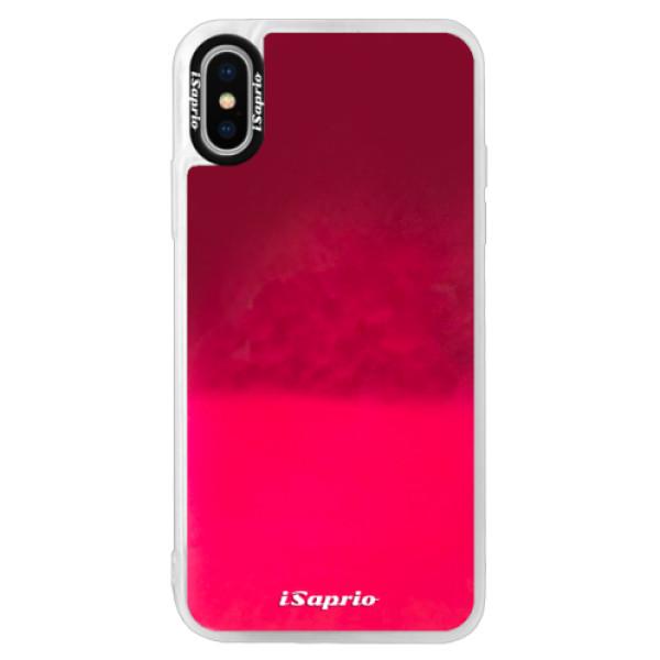 Pouzdro iSaprio s vlastním potiskem na mobil Apple iPhone X (neonové pouzdro Pink)