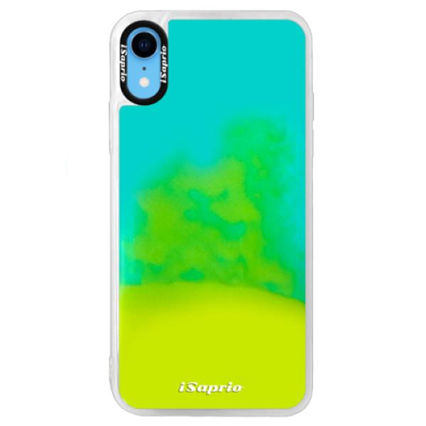 Pouzdro iSaprio s vlastním potiskem na mobil Apple iPhone XR (neonové pouzdro Blue)
