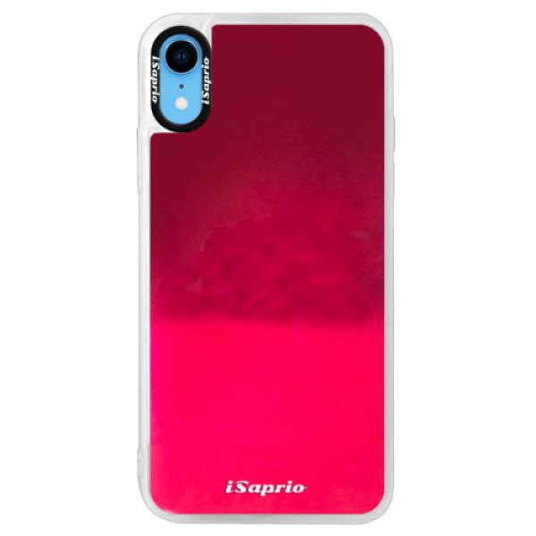 Pouzdro iSaprio s vlastním potiskem na mobil Apple iPhone XR (neonové pouzdro Pink)
