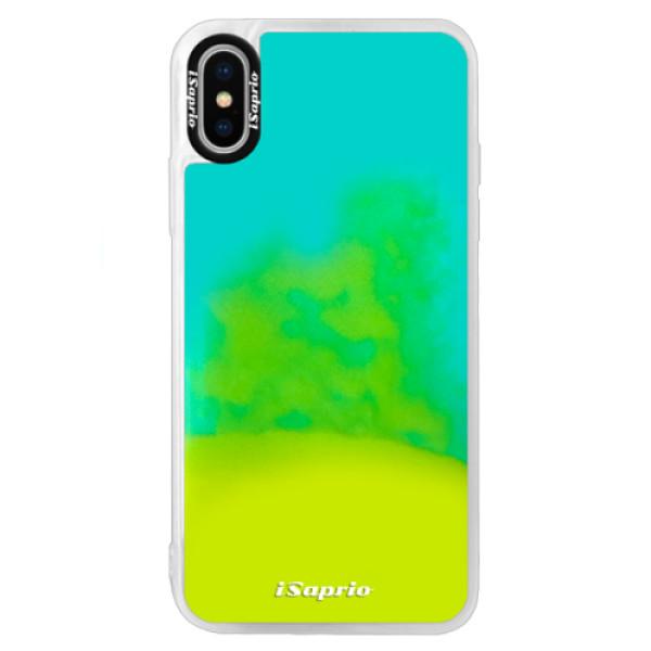 Pouzdro iSaprio s vlastním potiskem na mobil Apple iPhone XS (neonové pouzdro Blue)