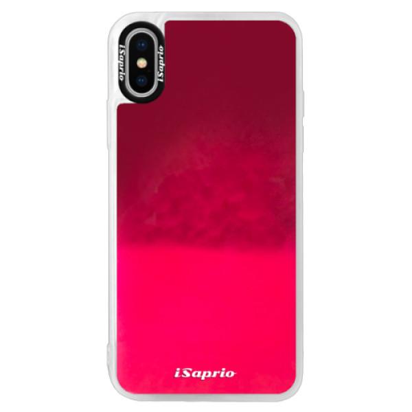 Pouzdro iSaprio s vlastním potiskem na mobil Apple iPhone XS (neonové pouzdro Pink)