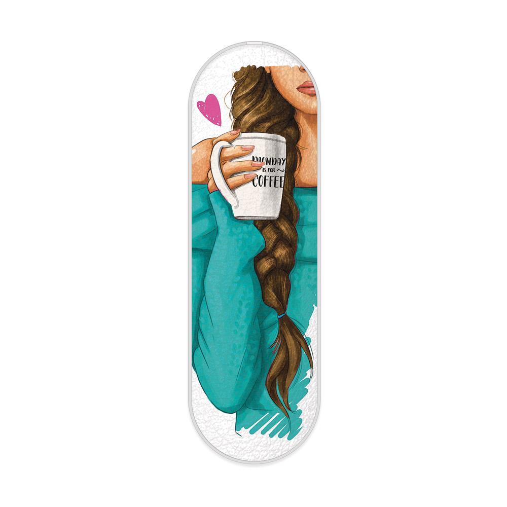 myGrip iSaprio – My Coffe and Brunette Girl – držák / úchytka na mobil